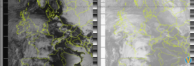 Decoded NOAA APT Image