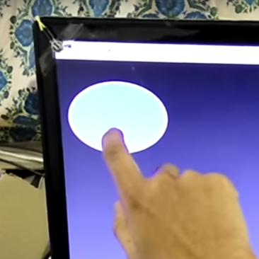 Sound based touch screen